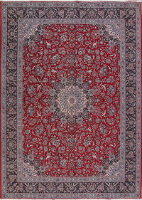 Floral Red Agra Turkish Oriental Area Rug Wool 10x13