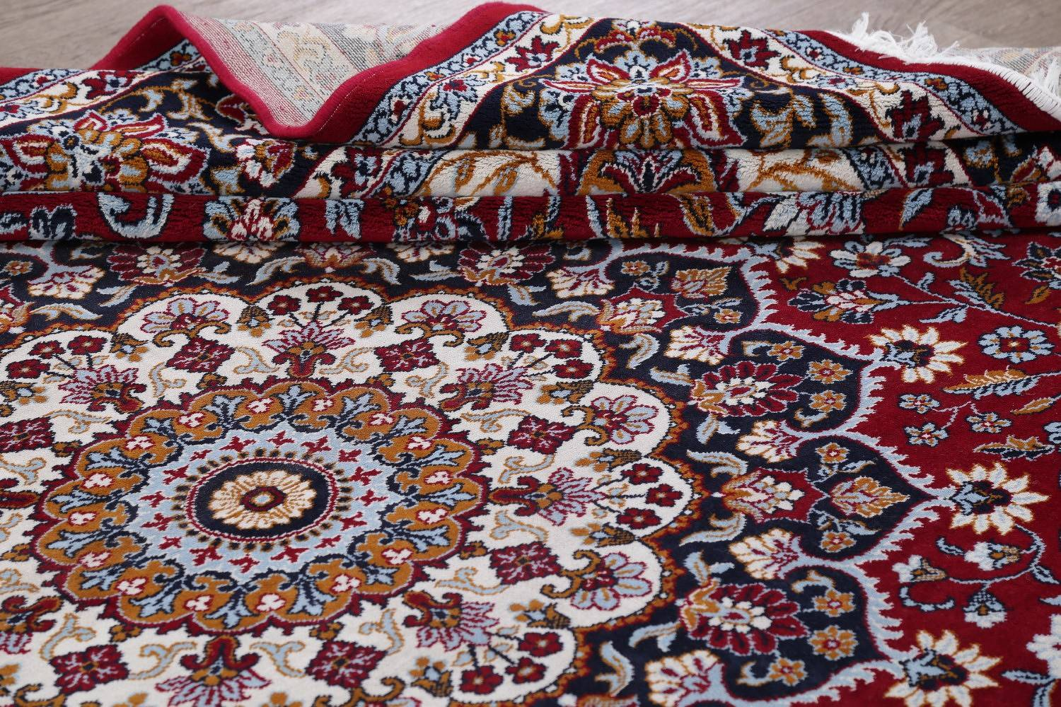 Floral Red Najafabad Isfahan Turkish Oriental Area Rug Wool 10x13