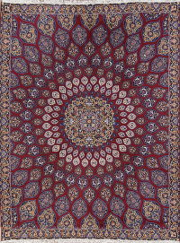 Geometric Red Oushak Turkish Oriental Area Rug Wool 9x12