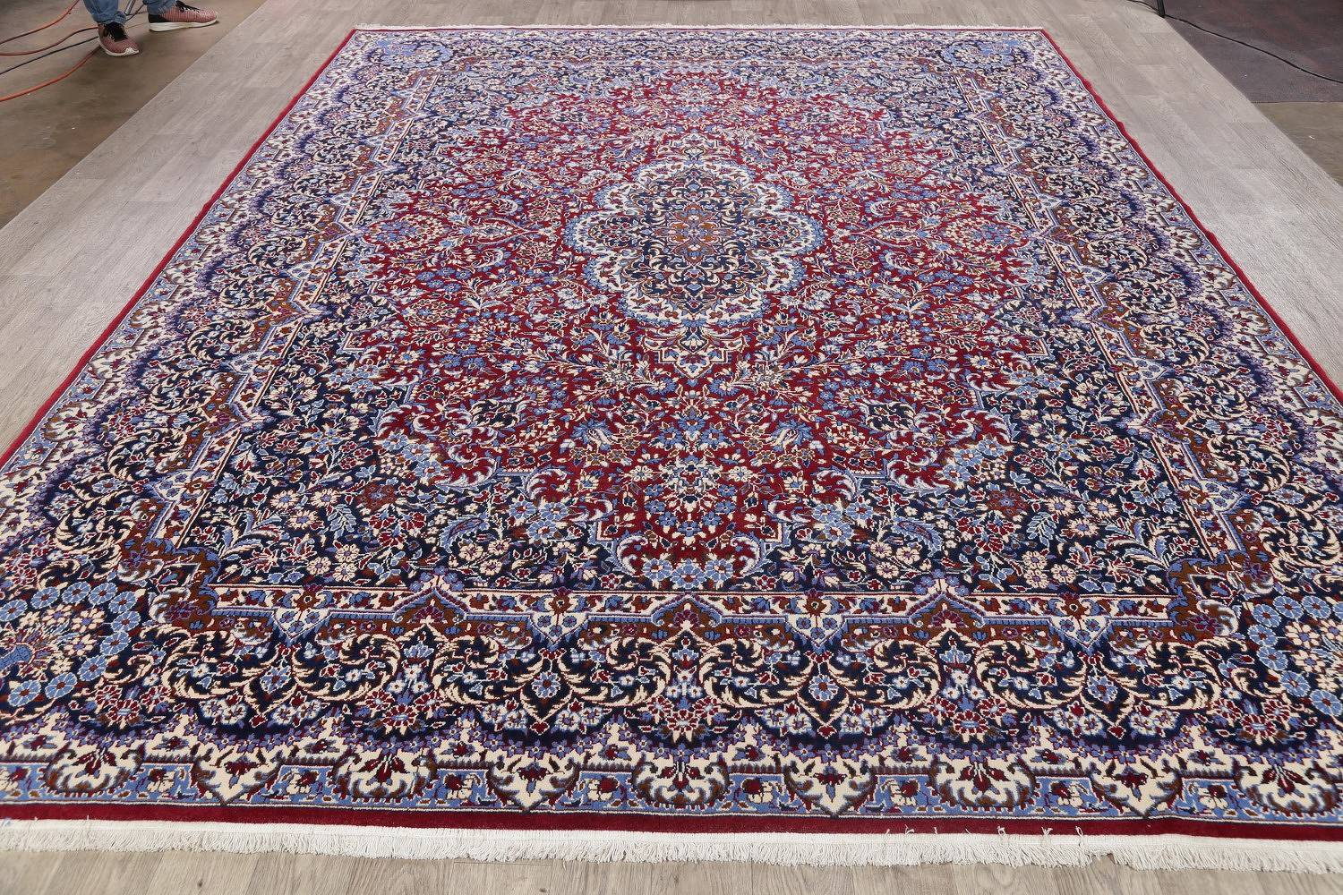 All-Over Floral Red Kerman Turkish Oriental Area Rug Wool 10x13