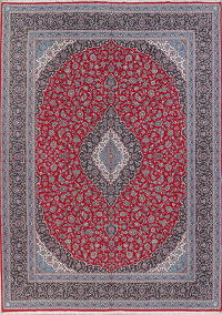 Floral Red Kashan Turkish Oriental Area Rug 10x13