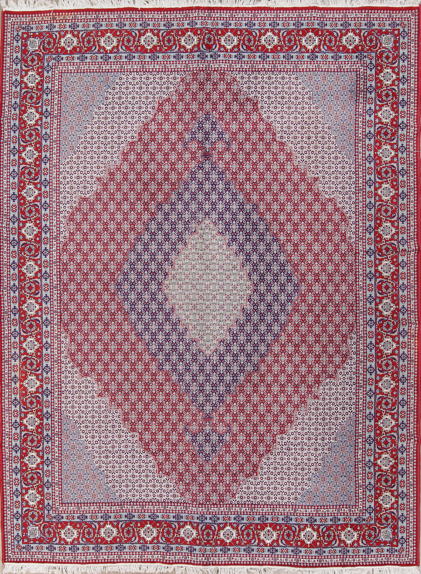 Geometric Red Bidjar Turkish Oriental Area Rug Wool 10x13
