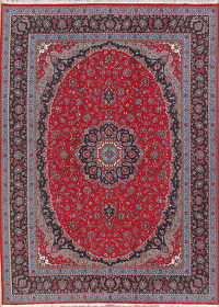 Floral Red Kerman Turkish Oriental Area Rug 10x13