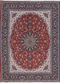 Floral Red Kashan Turkish Oriental Area Rug Wool 10x13