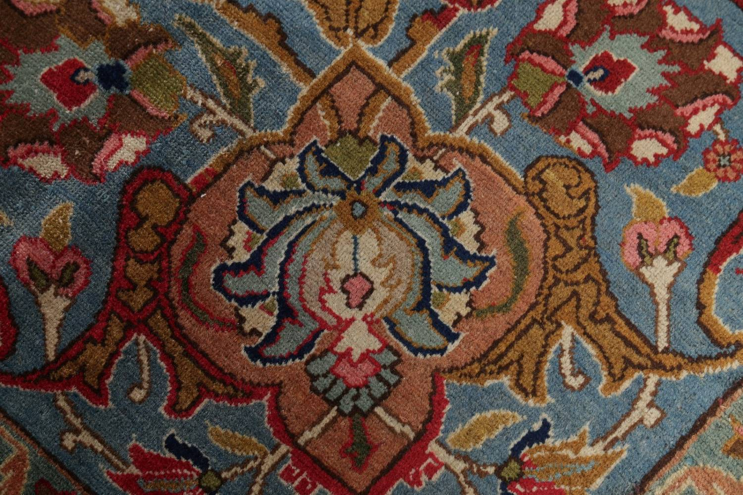 Antique Vegetable Dye Tabriz Persian Hand-Knotted Area Rug Wool 10x13 image 9