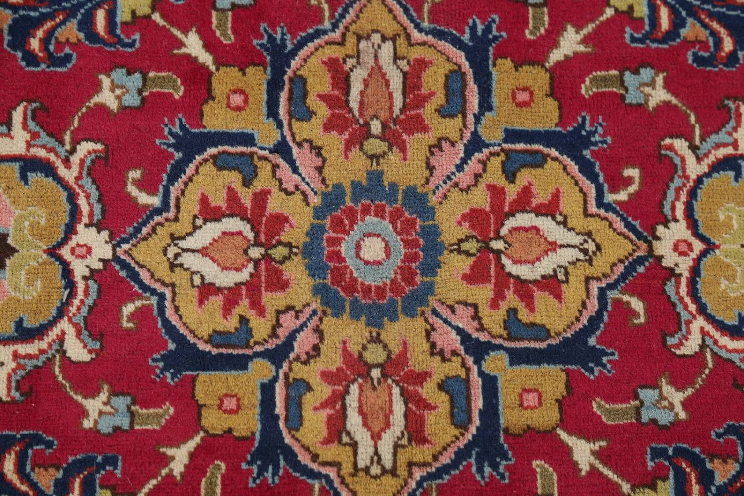 Antique Vegetable Dye Tabriz Persian Hand-Knotted Area Rug Wool 10x13 image 11
