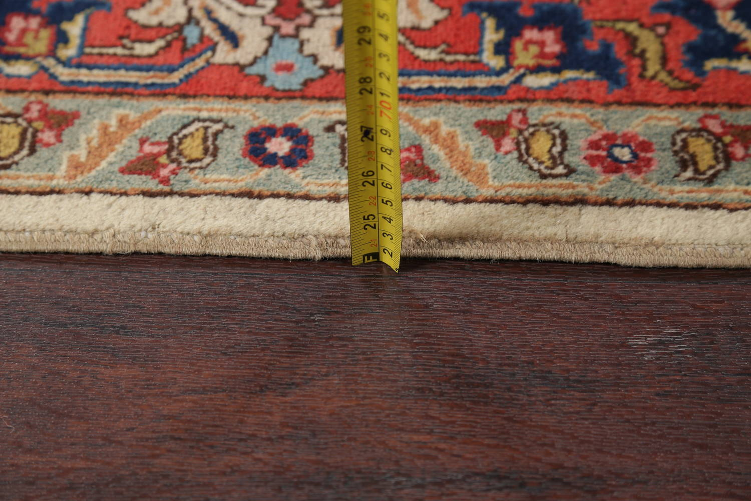 Antique Vegetable Dye Tabriz Persian Hand-Knotted Area Rug Wool 10x13 image 19