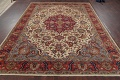 Antique Vegetable Dye Tabriz Persian Hand-Knotted Area Rug Wool 10x13 image 16