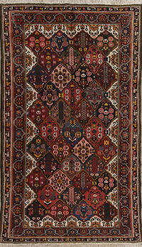 Antique Vegetable Dye Bakhtiari Persian Hand-Knotted Area Rug 7x12