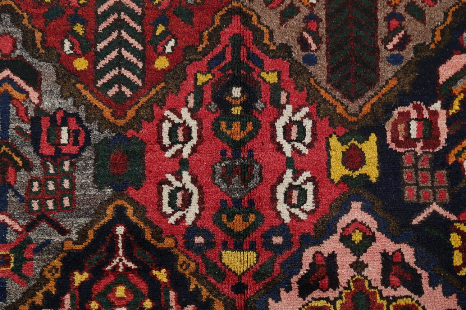 Antique Vegetable Dye Bakhtiari Persian Hand-Knotted Area Rug 7x12 image 8