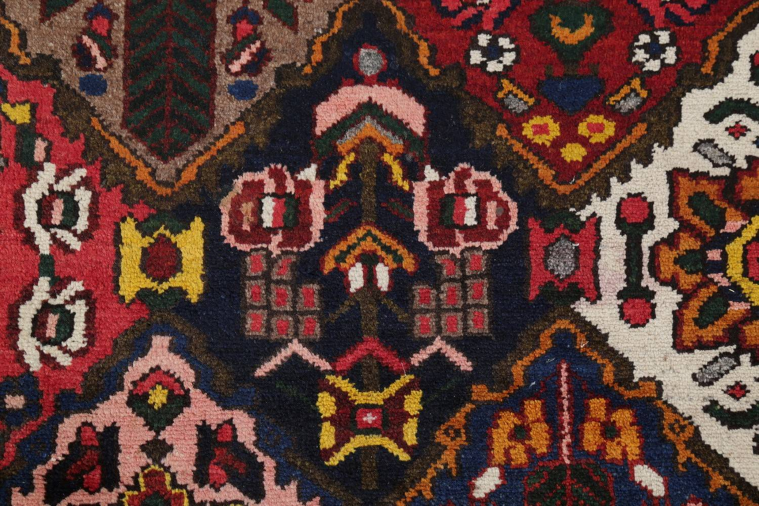 Antique Vegetable Dye Bakhtiari Persian Hand-Knotted Area Rug 7x12 image 9