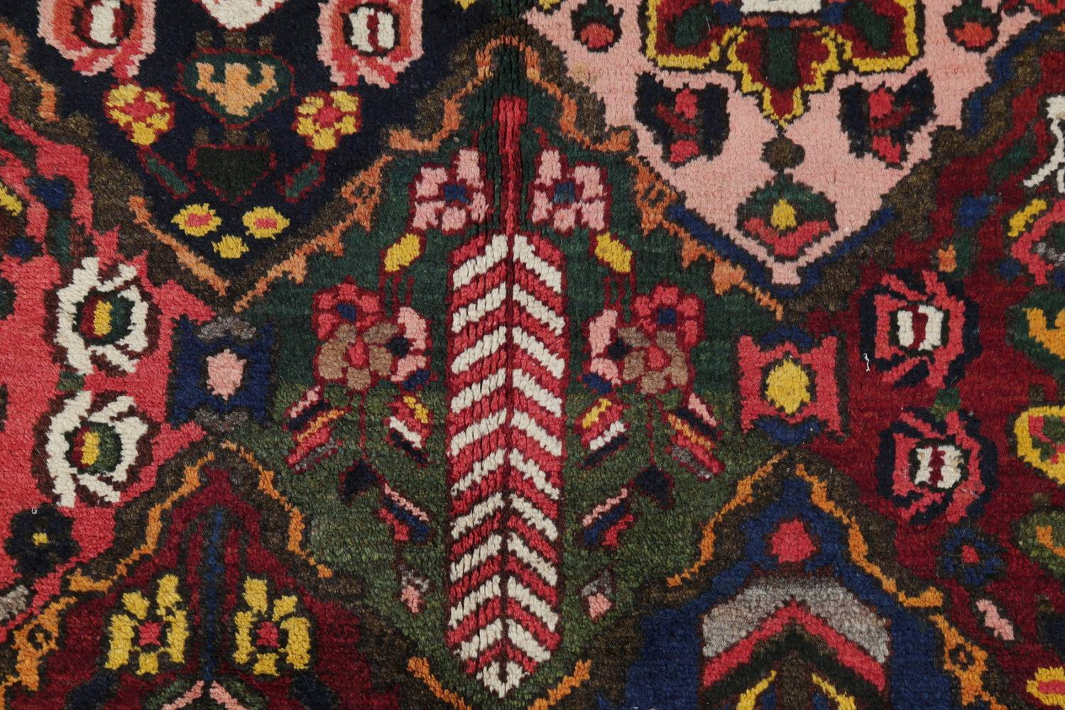 Antique Vegetable Dye Bakhtiari Persian Hand-Knotted Area Rug 7x12 image 10
