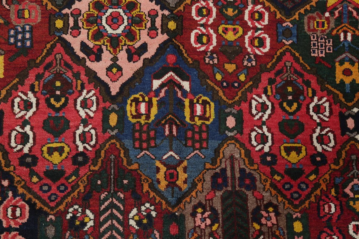 Antique Vegetable Dye Bakhtiari Persian Hand-Knotted Area Rug 7x12 image 12