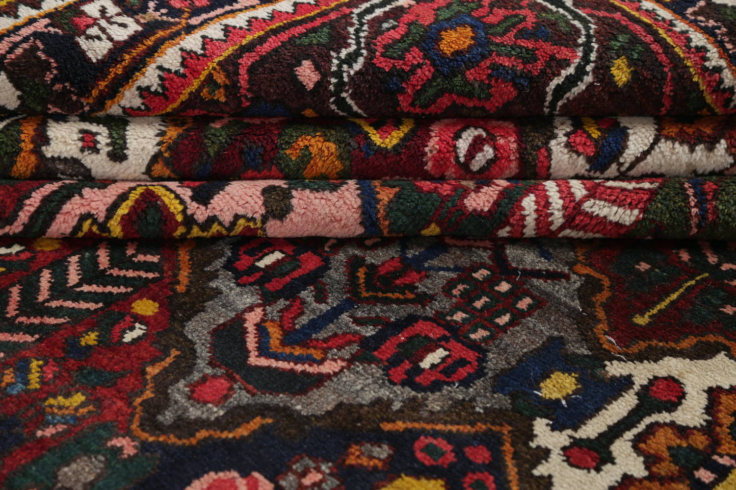 Antique Vegetable Dye Bakhtiari Persian Hand-Knotted Area Rug 7x12 image 18
