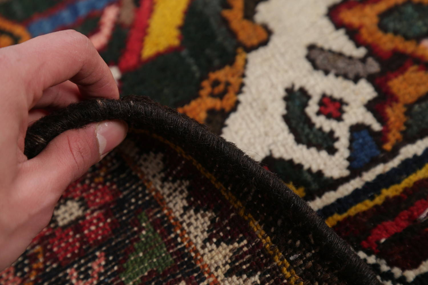 Antique Vegetable Dye Bakhtiari Persian Hand-Knotted Area Rug 7x12 image 19