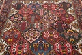 Antique Vegetable Dye Bakhtiari Persian Hand-Knotted Area Rug 7x12 image 13
