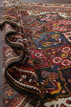 Antique Vegetable Dye Bakhtiari Persian Hand-Knotted Area Rug 7x12 image 17