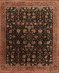 Vegetable Dye Dark Brown Oushak Turkish Oriental Area Rug Wool 8x10