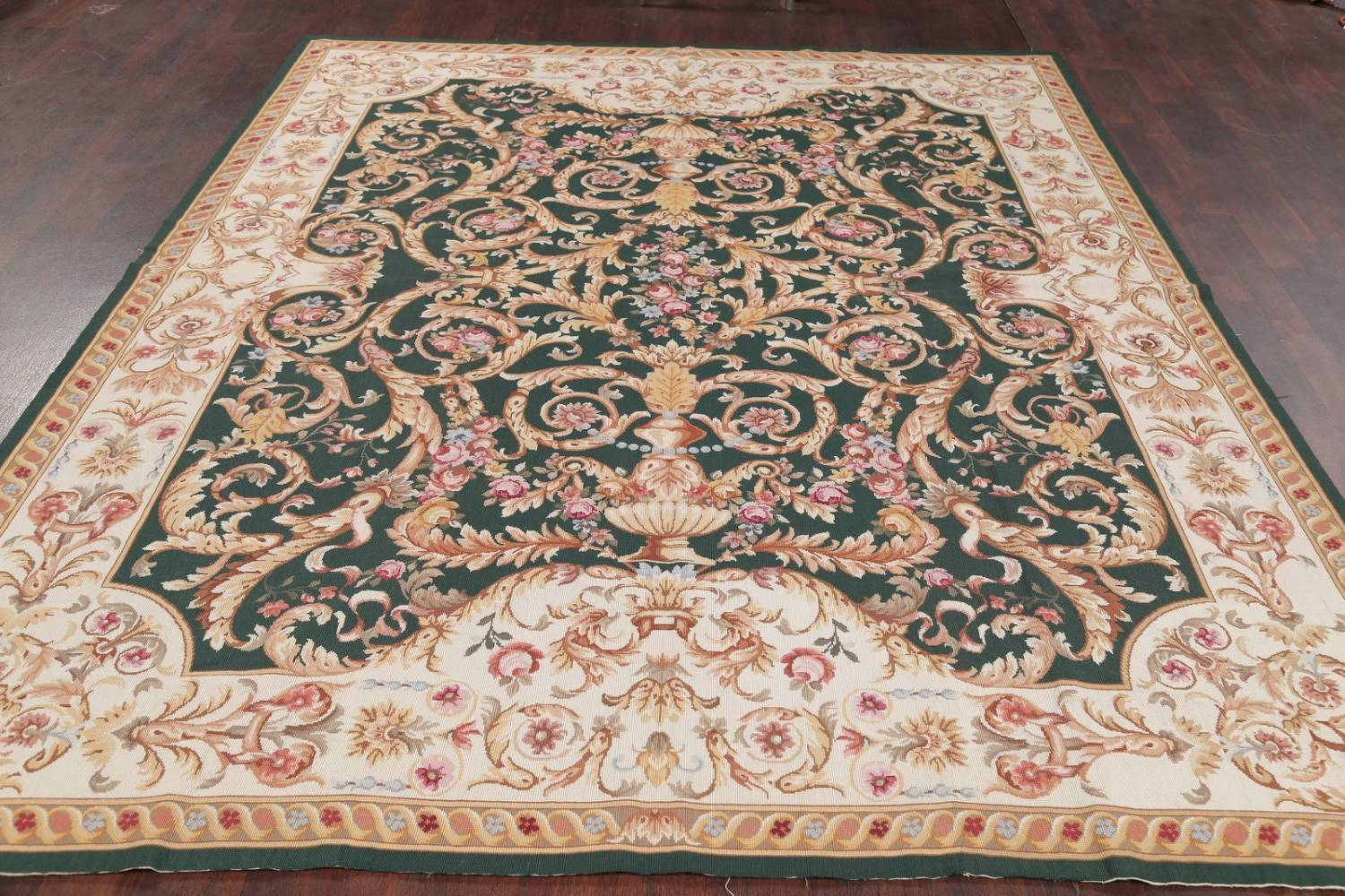 Savonnerie Needle Point Chinese Hand Woven Area Rug Wool 8x10