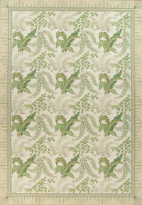 Mansion Floral Green Aubusson Savonnerie Needle-Point Chinese Wool Rug 11x16