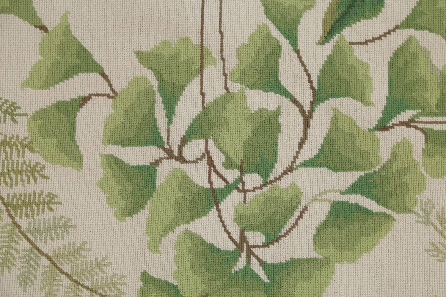 Mansion Floral Green Aubusson Savonnerie Needle-Point Chinese Wool Rug 11x16 image 7