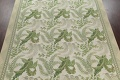 Mansion Floral Green Aubusson Savonnerie Needle-Point Chinese Wool Rug 11x16 image 3