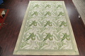 Mansion Floral Green Aubusson Savonnerie Needle-Point Chinese Wool Rug 11x16 image 2