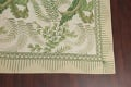 Mansion Floral Green Aubusson Savonnerie Needle-Point Chinese Wool Rug 11x16 image 6