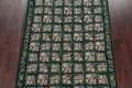 Hunter Green Floral Aubusson Needle-point Chinese Woven Area Rug Wool 6x9 image 3