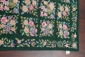 Hunter Green Floral Aubusson Needle-point Chinese Woven Area Rug Wool 6x9 image 10