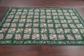 Hunter Green Floral Aubusson Needle-point Chinese Woven Area Rug Wool 6x9 image 11