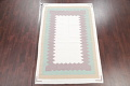 Contemporary Ivory Kilim Dhurrie Oriental Hand-Woven Area Rug Wool 6x9 image 2