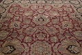 Mansion Floral Burgundy Agra Oriental Hand-Knotted Rug Wool 12x18 image 12