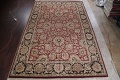 Mansion Floral Burgundy Agra Oriental Hand-Knotted Rug Wool 12x18 image 2