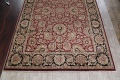 Mansion Floral Burgundy Agra Oriental Hand-Knotted Rug Wool 12x18 image 5