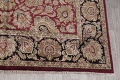 Mansion Floral Burgundy Agra Oriental Hand-Knotted Rug Wool 12x18 image 6