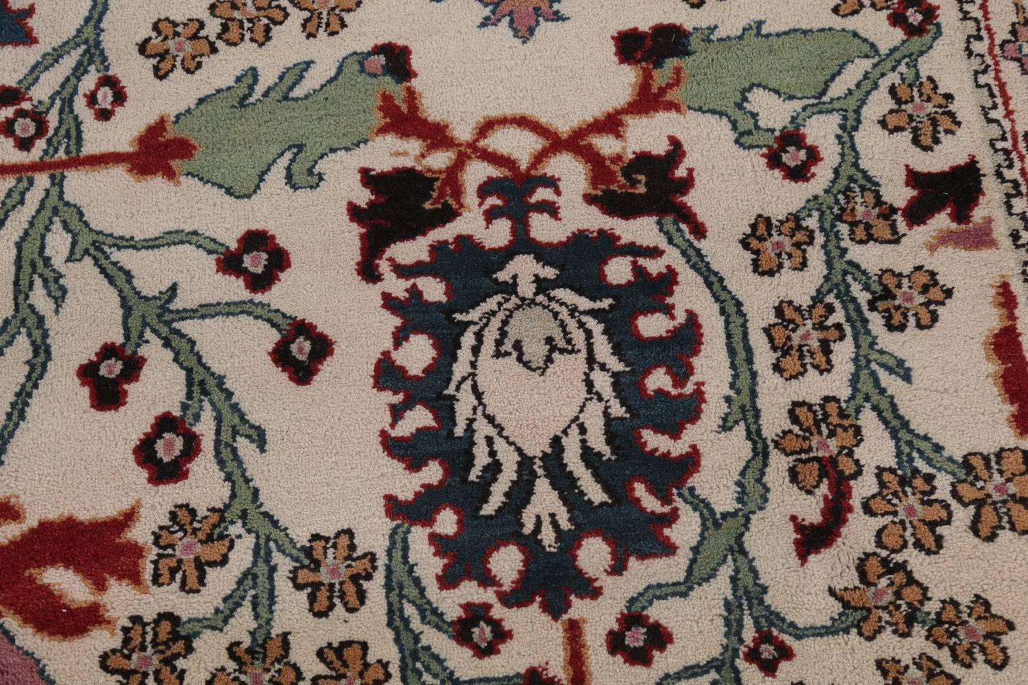 Ivory Floral Oushak Oriental Hand-Knotted Area Rug Wool 10x15