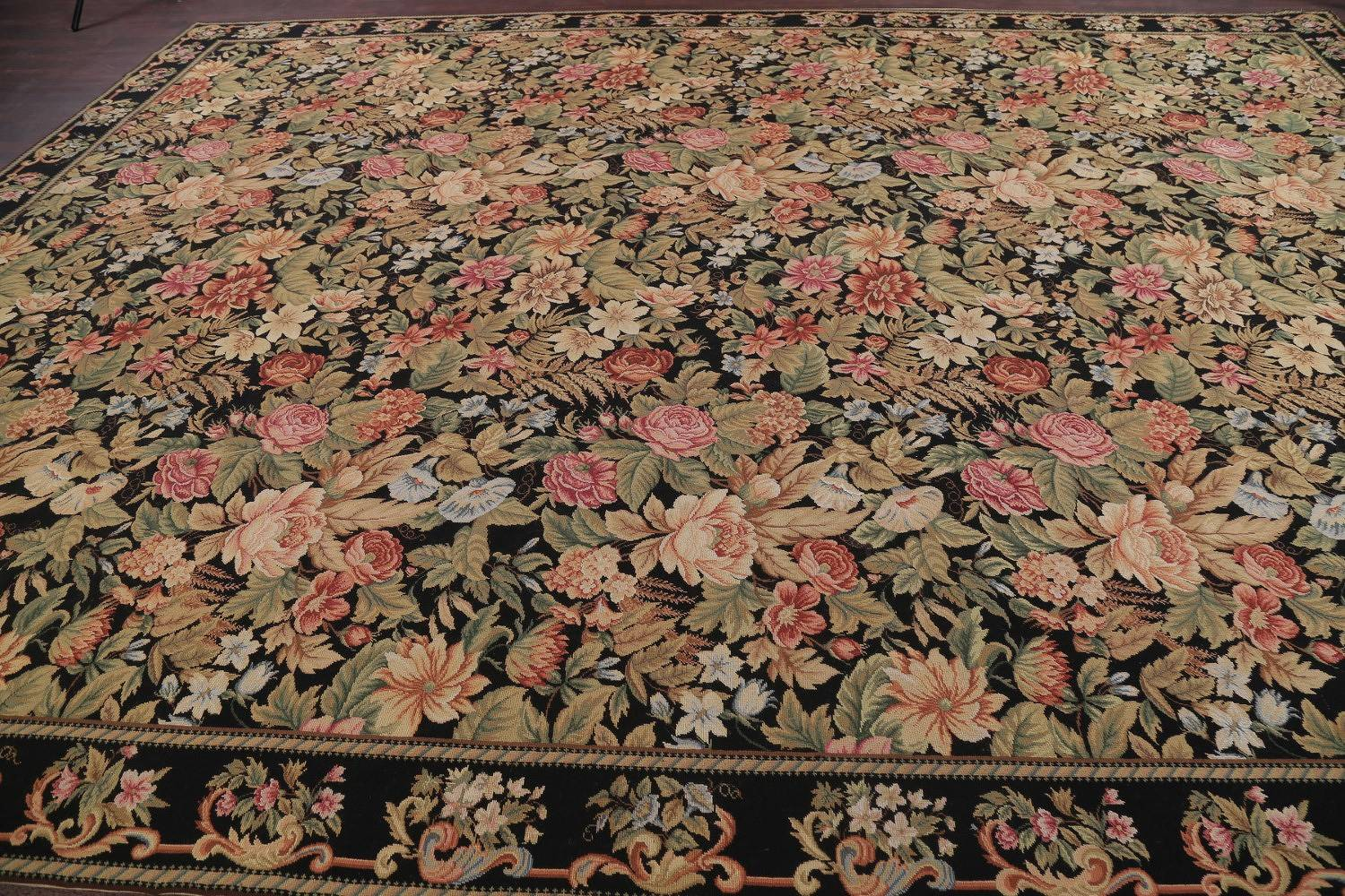 Fl Savonnerie Aubusson Chinese Oriental Hand Woven Area