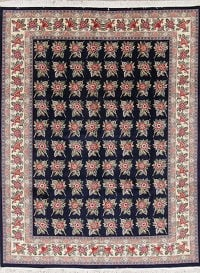 Floral Navy Aubusson Pak Persian Oriental Hand-Knotted Area Rug Wool 8x10