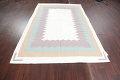 Geometric Ivory Contemporary Kilim Dhurrie Hand-Woven Area Rug Wool 6x9 image 12