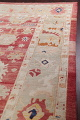 Geometric Red Oushak Turkish Oriental Hand-Knotted Area Rug Wool 13x15 image 16