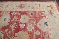 Geometric Red Oushak Turkish Oriental Hand-Knotted Area Rug Wool 13x15 image 14