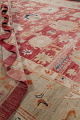 Geometric Red Oushak Turkish Oriental Hand-Knotted Area Rug Wool 13x15 image 20