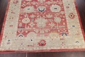 Geometric Red Oushak Turkish Oriental Hand-Knotted Area Rug Wool 13x15 image 5
