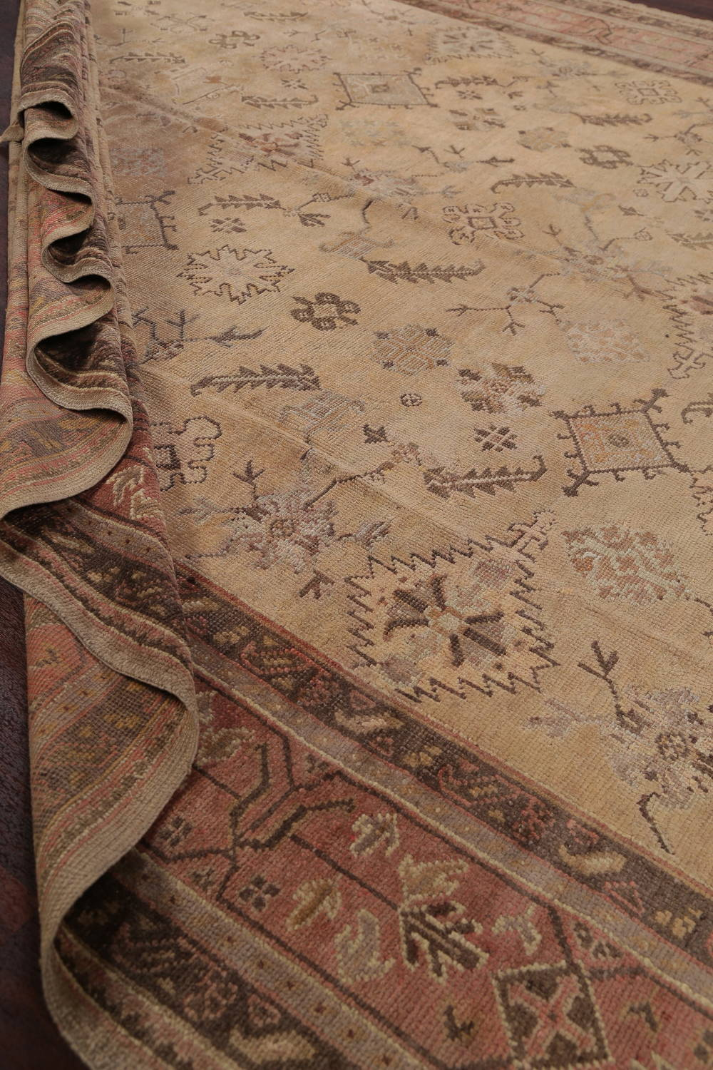 Pre-1900 Antique All-Over Geometric Muted Color Oushak Turkish Area Rug 10x13 image 21