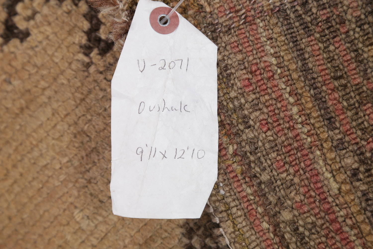 Pre-1900 Antique All-Over Geometric Muted Color Oushak Turkish Area Rug 10x13 image 25