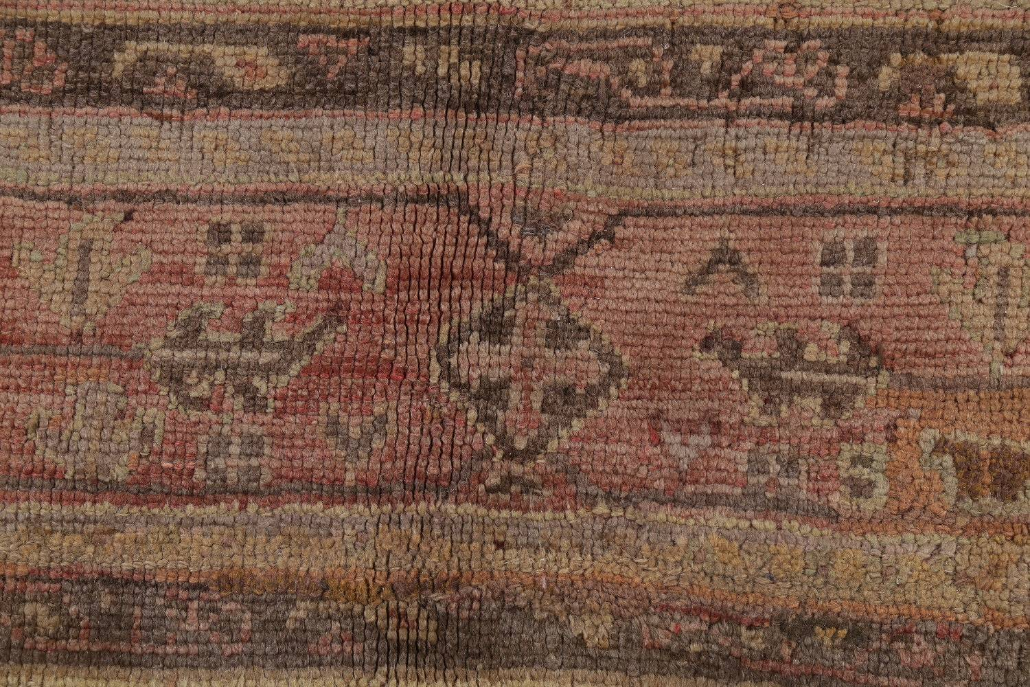 Pre-1900 Antique All-Over Geometric Muted Color Oushak Turkish Area Rug 10x13 image 7