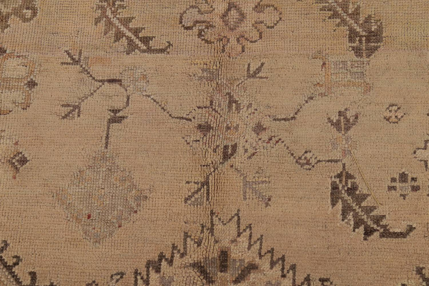 Pre-1900 Antique All-Over Geometric Muted Color Oushak Turkish Area Rug 10x13 image 8