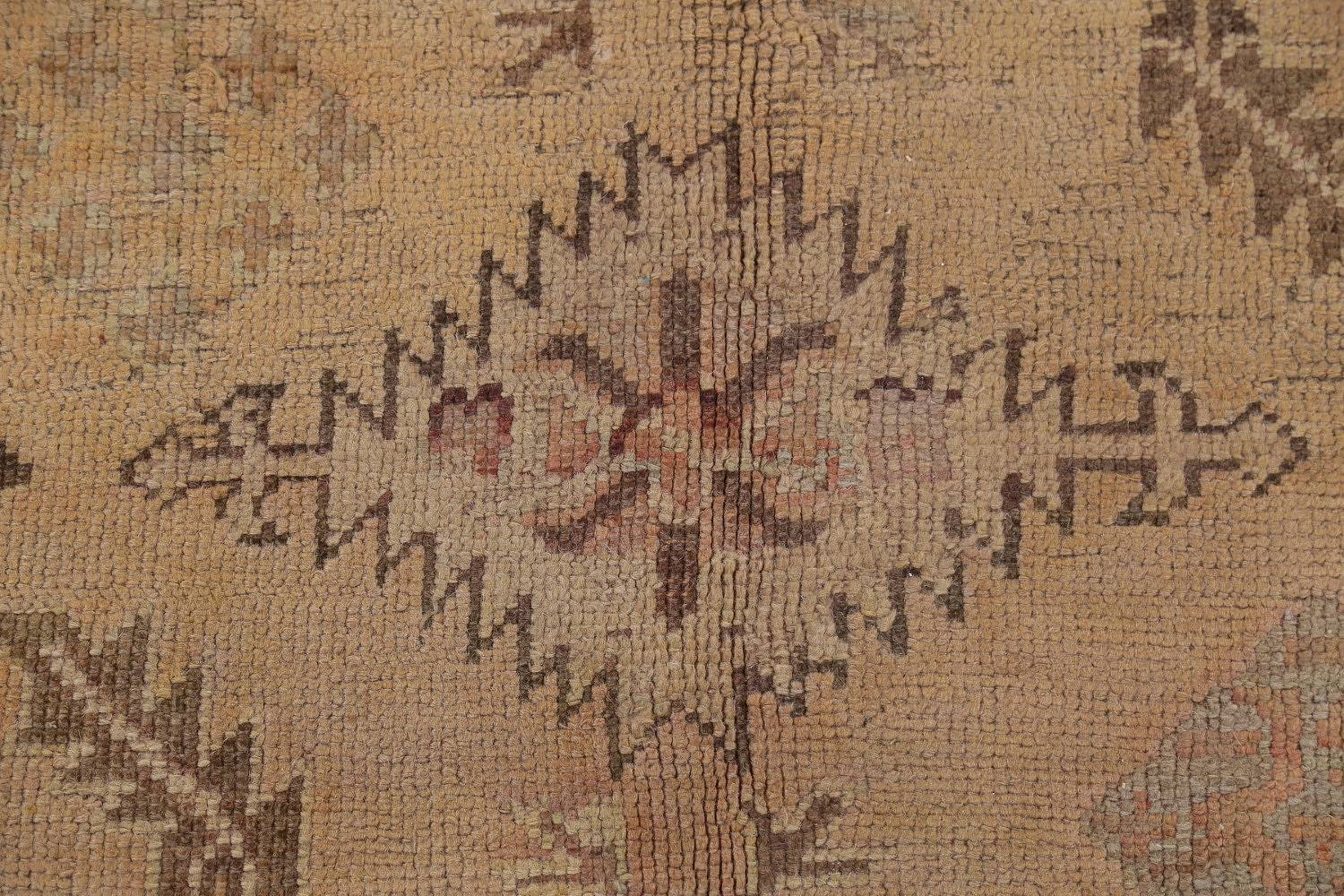 Pre-1900 Antique All-Over Geometric Muted Color Oushak Turkish Area Rug 10x13 image 9