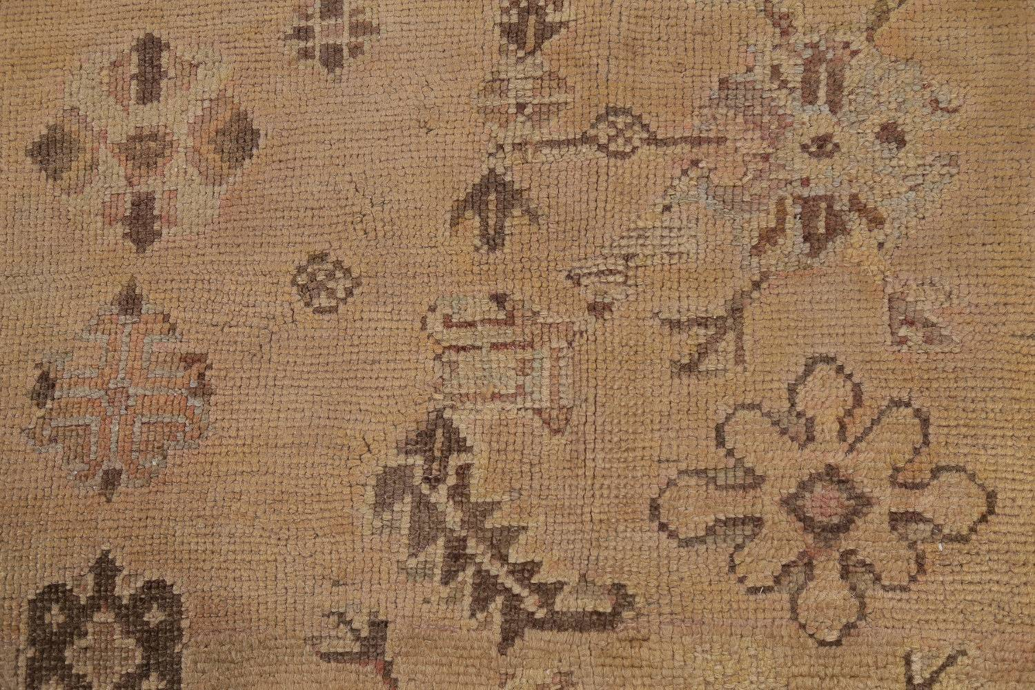 Pre-1900 Antique All-Over Geometric Muted Color Oushak Turkish Area Rug 10x13 image 10